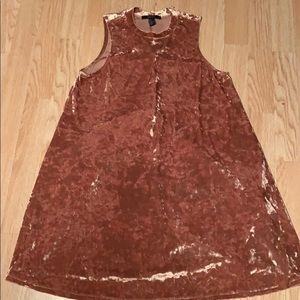 ⭐️ Forever 21 Velvet Bronze Dress